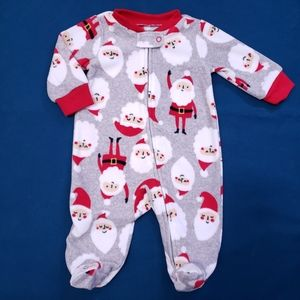 3M Fleece Pyjamas | Grey with Santas